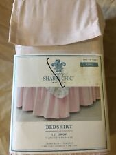 060140238 Simply Shabby Chic Simpily Pink Bedskirt Dust Ruffle King Size 78 X 80 Drop 15