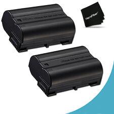 2 High Capacity EN-EL15 ENEL15 Batteries for Nikon D7100 DSLR Camera