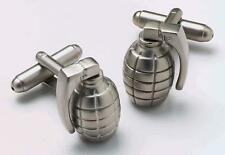 Mens Grenade Bomb War Army Cufflinks & Gift Box By Onyx Art