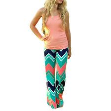 Women's Casual Stretch Pants Wide Leg Boho Long Loose Palazzo Trousers - XL