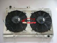 Aluminum Radiator+Shroud+fans for Nissan Silvia S13 240SX SR20DET 1989-1994 MT