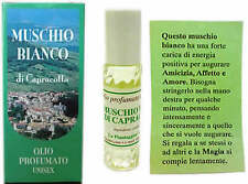 PROFUMO MUSCHIO BIANCO OLIO PROFUMATO ROLL ON unisex senza alcool DI CAPRACOTTA
