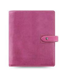 Filofax A5 Malden Organiser Planner 2017 Diary Notebook Fuchsia Leather - 026029