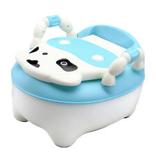 Easy Clean Kids Toddler  Chair Seat Removable Potty Lid Blue