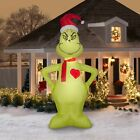 ✅ The Grinch Inflatable 11ft Heart Grows 3 Sizes Christmas FREE SAME DAY SHIP