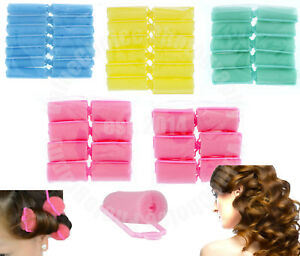 SOFT FOAM CUSHION HAIR ROLLERS,CURLERS HAIR CARE,STYLING 5 SIZES, 4 COLORS NEW