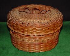 Antique 1920's Wabanaki - Micmac, Penobscot,Passamoquoddy - Ash & Sweet Grass