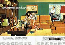 PUBLICITE ADVERTISING 116  1977   Roche Bobois  (2p) canapés living