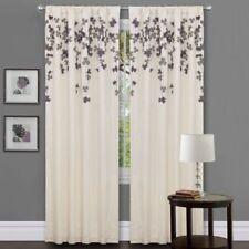 Lush Decor Flower Drop Curtain Panel, Purple