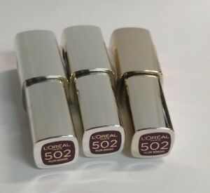 3 Pack - L'Oréal Paris Colour Riche Extraordinaire Lip Gloss, #502 Plum Adagio