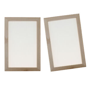 Paper Making Kit - 2pcs Papermaking Screen Frame and Deckle and Mold Kits -