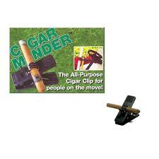 Cigar Minder CigarMinder Clip Holder Klip Golf Golfing Fishing Boat BBQ Black
