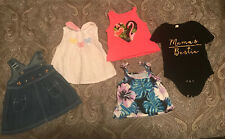 Girls Shirts Size 12 Months - Lot of 5