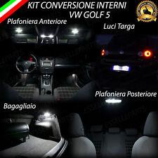 KIT LED INTERNI GOLF 5 V CONVERSIONE INTERNI COMPLETA + LUCI TARGA LED CANBUS
