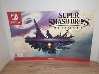 "HTF 17""x11 Gamestop Exclusive ""Super Smash Bros Ultimate"" Promotional Poster"