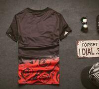 Red rose black T-Shirt [fresh dope hip-hop unique different graffiti streetwear]