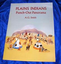 1994 VTG DOVER PUBLICATIONS PUNCH OUT BOOK, PLAINS (SIOUX) INDIANS model VILLAGE
