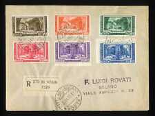 VATICANO - 1935 - Congresso archeologia (D) serie su racc.