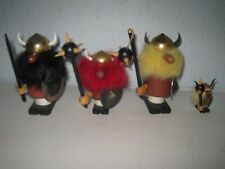 Lot 4 Vintage Mid Century Modern Gonk Viking Goula Spain Wood Figurines