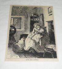 1879 magazine engraving ~ HUSH BABY BUNTING