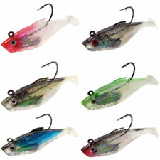 6pcs Soft Fishing Lure Soft Silicone Jig Head Lead Weight Bait Lead Jigging Lure