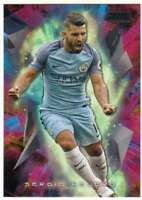 2016-17 Topps Stadium Club Premier League Golazo Black Foil #6 Sergio Aguero