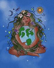 Earth Goddess Gaia Embrace Individual Flag Pennant Wall Decor Banner #GHE