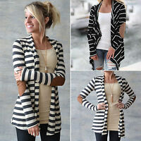 Women Cardigan Long Sleeve Knitted Sweater Outwear Casual Loose Jacket Coat Tops