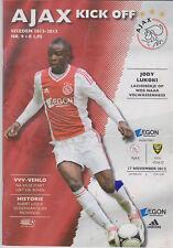 Programma / Programme Ajax Amsterdam v VVV Venlo 17-11-2002