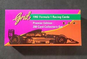 1992 GRID Formula 1 Racing Complete Factory Set 200 Cards Michael Schumacher RC