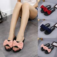 Summer Women Bow Sandals Slipper Open Toe Outdoor Flip-flops Bath Beach Shoes