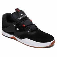 DC Shoes Men's Kalis S Low Top Sneaker Shoes Black Wht Red Footwear Skateboard