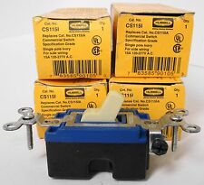 Hubbell CS115I Commercial Switchs (lot of 4)