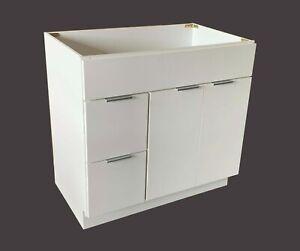 """NITURRA Moderno Series - 36"""" Bathroom Vanity Flat Door Style RTA Cabinet base"""
