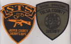 Jasper County Sheriff IN Tactical Squad & Tulsa CO OK Special Ops patches
