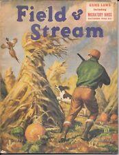 Field & Stream magazine  October 1944 Art Fuller cover hunting fishing