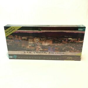 NEW Las Vegas NV Panoramic Glow In The Dark Jigsaw Puzzle Over 3' Wide 750 Piece