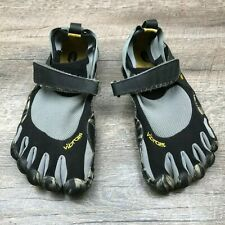 VIBRAM Men's 5 Finger Barefoot Running Shoes Grey Black Marble  Size 42