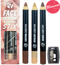 W7 Face Shaping Contour Stix Crayons Cosmetics with Sharpener
