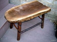 black WALNUT/HICKORY LOG End-Table/Bench/Coffee~rustic home/cabin furniture