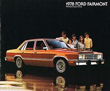 1978 FORD FAIRMONT Brochure / Pamphlet : Squire Station Wagon, Sedan, ES,