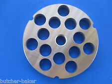 "#32 x 5/8"" (16mm) STAINLESS Meat Grinder Plate Screen Hobart 4332 4532 LEM etc"