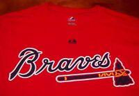 RETRO ATLANTA BRAVES MLB BASEBALL T-Shirt MEDIUM NEW