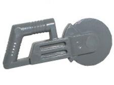 LEGO - Minifig, Utensil Circular Blade Saw - (X2) - Dark Bluish Gray