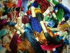 100% Seta, 30 Ricamo Filo interdentale/Thread 30 Colours