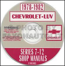 Chevy Luv Truck Shop Manual CD 1978 1979 1980 1981 1982 Repair Service Chevrolet