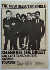 The Selecter 1981 Poster Ad Celebrate The Bullet