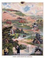 RARE IOOF From Jerusalem to Jericho Odd Fellows art print poster ring Oddfellows
