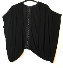 BLACK GIRLS KIMONO CASUAL TOP LACE TRIM CANDY COUTURE 13 YEARS MATALAN OVERSIZED