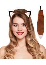 Fox Ears & Tail Costume Set Adults & Kids Unisex World Book Week Day Fantastic